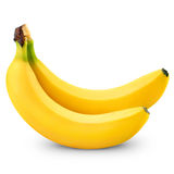Two bananas. Isolated on white background royalty free stock photography