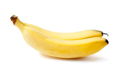 Two bananas. Isolated on the white background Stock Image