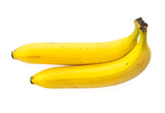 Two bananas on a white background, isolated Royalty Free Stock Photography