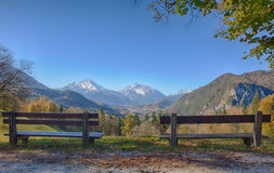 Two banks on a Watzmann viewpoint Stock Photography