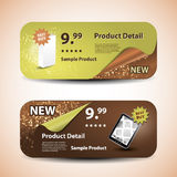 Two Banner Designs. Two Banner Design Templates for Product Selling in Freely Scalable & Editable Vector Format Royalty Free Stock Image