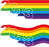 Two banner new year Royalty Free Stock Image