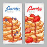 Two banners with appetizing pancakes Stock Image