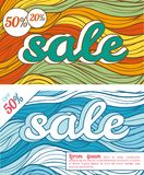 Two banners for autumn and winter sales Stock Photos