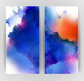 Two banners blots Stock Photo