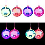 Two banners with decorative christmas bulbs Stock Photos