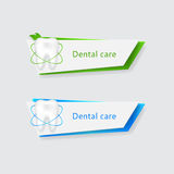 Two  banners with dental protecting Royalty Free Stock Photos