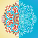 Two banners with round pattern Stock Photography