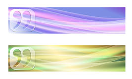 Two banners Royalty Free Stock Images