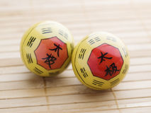 Two Baoding balls Royalty Free Stock Photo