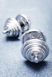 Two barbells Stock Photos