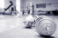 Two barbells Royalty Free Stock Image