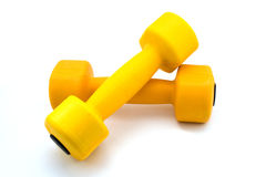 Two barbells Stock Photography