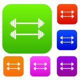 Two barbells set collection Stock Images