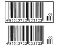 Two barcode Stock Photos