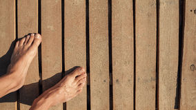 Two Bare Feet Stock Photos