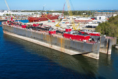 Two Barge Tankers Royalty Free Stock Photo
