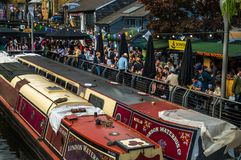 Restaurants at Camden Market Stock Photos