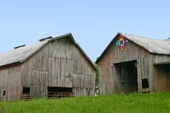 Two Barns Royalty Free Stock Photography