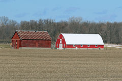 Two Barns - The Old and the New Stock Photography