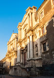 Two baroque churches in Catania. Two baroque churches in Via dei Crociferi, a famous street in Catania Royalty Free Stock Image