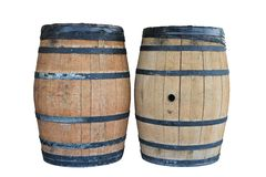 Two barrel. Two wooden barrel isolated on a white background Stock Images