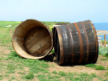 Two barrels Stock Photo
