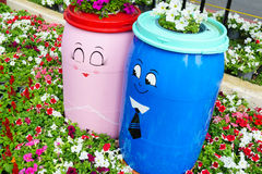 The two barrels loving Royalty Free Stock Images