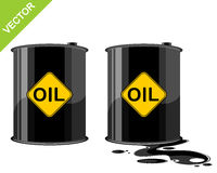 Two barrels of oil. Vector illustration of a two barrels of oil stock illustration