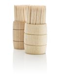 Two barrels with toothpicks Royalty Free Stock Photo