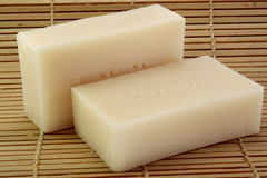 Two bars of handmade soap Royalty Free Stock Image