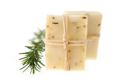 Two Bars of Natural Rosemary Soap Royalty Free Stock Image
