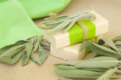 Two Bars Of Soap With Essential Oil