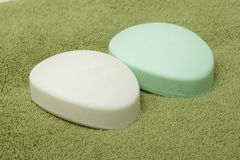 Two bars of soap Stock Image