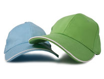 Two baseball caps Stock Photo