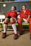 Two Baseball Players Looking Away Royalty Free Stock Photo