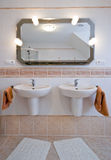 Two basins in bathroom Royalty Free Stock Photos