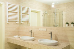 Two basins Stock Images