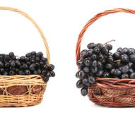 Two basket with red grape. Stock Image