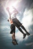 Two Basketball Player Royalty Free Stock Photos
