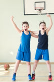 Two basketball player Royalty Free Stock Image
