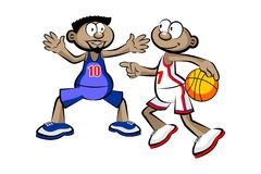 Two Basketball Players isolated over white Stock Images