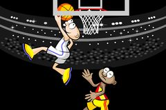 Two basketball players at the stadium Royalty Free Stock Image