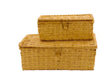 Two baskets. On a white background Stock Photos