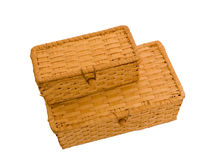 Two baskets. On a white background Royalty Free Stock Photos