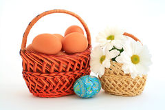 Two baskets Stock Image