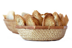 Two baskets of bread Stock Photography
