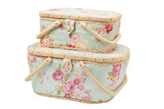 Two baskets for storage of accessories for sewing Stock Image
