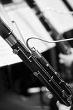 Two bassoon in the orchestra closeup Royalty Free Stock Photography