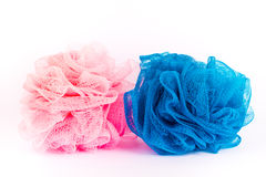 Two bath sponges Stock Photos